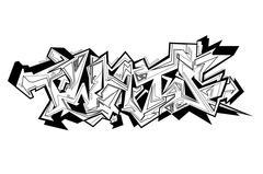 Graffiti vector urban art. Stock Illustration