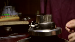 Vise for engraving Stock Footage