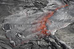 Overflowing lava lake, Erta Ale volcano, Danakil Depression, Ethiopia. Kuvituskuvat