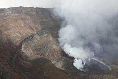 Active lava lake in summit caldera, Nyiragongo Volcano, Democratic Republic of Kuvituskuvat