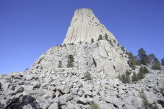 Devils Tower National Monument, Wyoming. Stock Photos