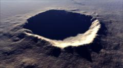 Artist's concept of Meteor Crater, Arizona, USA. Stock Illustration