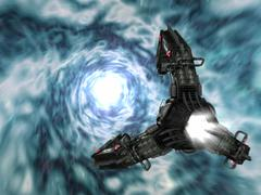 Artist's concept of the Assimilator's Claw in hyperspace. Stock Illustration