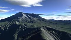 Terragen render of Mt. St. Helens, Washington, in daylight. Stock Illustration