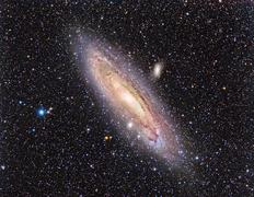 Messier 31, the Andromeda Galaxy. Stock Photos