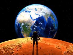 Exoplanet Exploration. 3D Rendered. Stock Illustration
