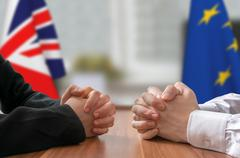 Negotiation of Great Britain and European Union (Brexit). Stock Photos