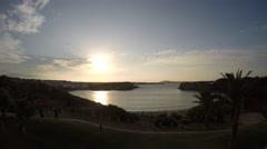 Timelapse sunset. Arenal d'en Castell - Menorca - Spain Stock Footage