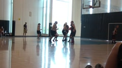 Basketball Game in Silhouette Stock Footage