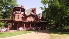 Mark Twain's House Stock Footage