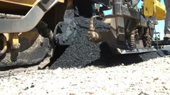 Blacktop Asphalt Machine in Sun Stock Footage
