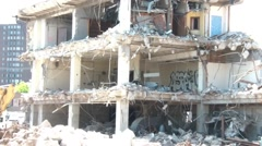 Bombed Building Aftermath Stock Footage