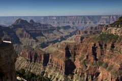 A view from Bright Angel Point near the North Rim, Grand Canyon, Arizona. - stock photo