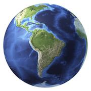 3D rendering of planet Earth, centered on South America. Stock Illustration