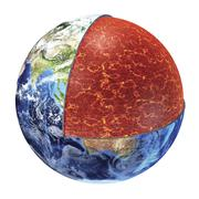 Cross section of planet Earth showing the upper mantle. Stock Illustration