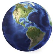 3D rendering of planet Earth, centered on North America and South America. Stock Illustration