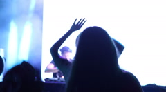 Party crowd / Silhouettes - stock footage