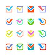 Check vote icon button Stock Illustration