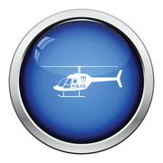 Police helicopter icon Stock Illustration
