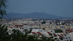 View over the city of Albufeira, time lapse at night Stock Footage