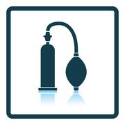 Vacuum penis machine icon Stock Illustration