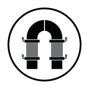 Electric magnet icon Stock Illustration
