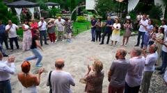Georgian folk dances 2 Stock Footage