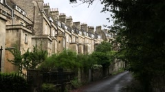 Traditional Houses in the City of Bath Stock Footage