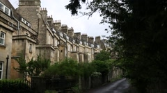Traditional Lyme Stone Houses in the City Bath - tilt Stock Footage