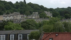 Houses on a hill in the City of Bath Stock Footage