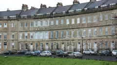 Historical Houses in the City of Bath Stock Footage
