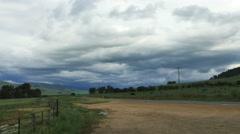 Australia cloudy sky near Kosciuszko Stock Footage