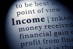 Dictionary word income Stock Photos