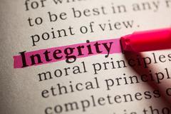 Dictionary word integrity Stock Photos