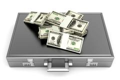Briefcase with Cash.. Stock Illustration