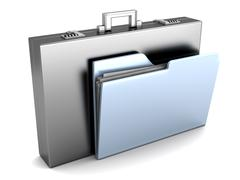 Document Briefcase Stock Illustration