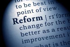 Dictionary word reform Stock Photos