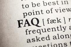 Frequently Asked Questions Stock Photos