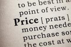Dictionary word price Stock Photos