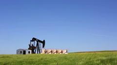 Oil Well Pumpjack Wyoming - stock footage