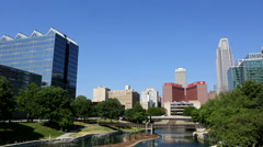 Omaha Nebraska City Skyline Stock Footage