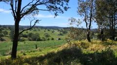 Australia Mumbulla view of farm Stock Footage