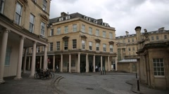 Modern Bath Spa Baths - Establishing wide shot Stock Footage