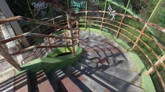 Abandoned building stairs Stock Footage
