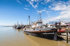 Village of Steveston Fisherman's Wharf in Richmond, BC Stock Photos