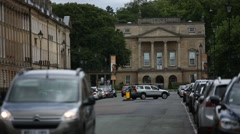 The Holburne Museum of Art in the City of Bath - long shot Stock Footage