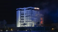 Riviera Monaco Tower Implosion Stock Footage