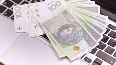 Man with money Stock Footage