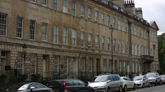 Regency Terrace houses in the City of Bath Stock Footage