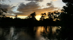 Australia Murray River at Albury cloud Stock Footage
